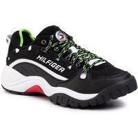 Sneakersy - heritage sneaker em0em00374 black/green gecko/white blk marki Tommy jeans