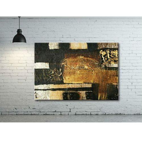 Obraz abstrakcyjny ręcznie malowany - metaliczne inspiracje