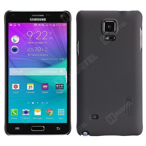 Nillkin Frosted Shield etui Samsung Galaxy Note 4 czarne + folia ochronna - Czarny (Futerał telefoniczny)