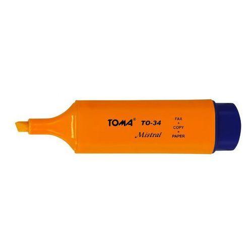 Zakreślacz mistral to-334 pomarańczowy marki Toma