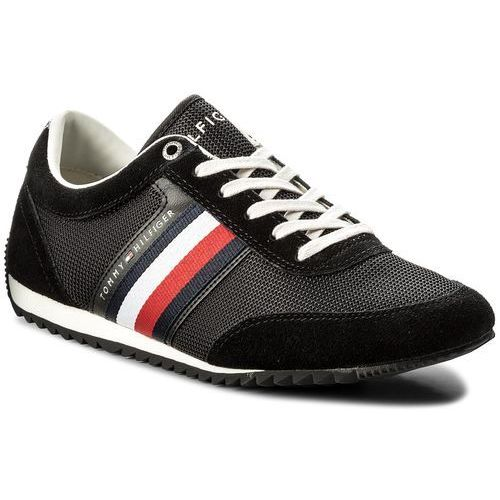 3537be7a1ca22 Sneakersy TOMMY HILFIGER - Corporate Material Mix Runner FM0FM01314 Black  990, w 3 rozmiarach