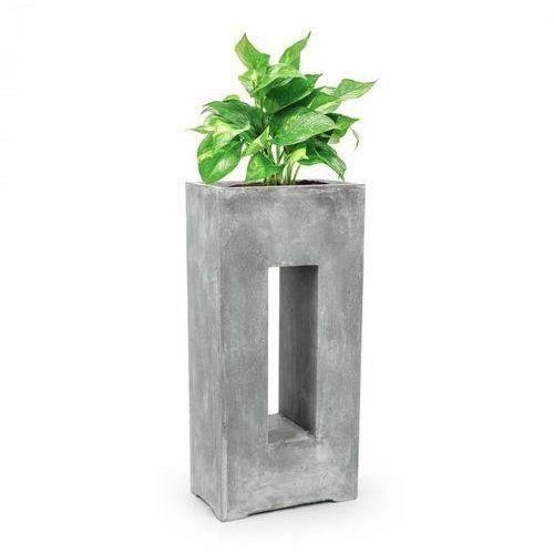 Blumfeldt Airflor pojemnik na rośliny donica 45x100x27 cm włókno szklane do wewnątrz/na zewnątrz jasnoszary (4060656101748)