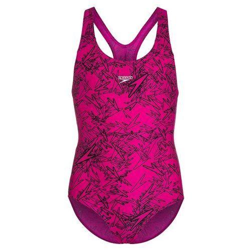 Speedo BOOM Kostium kąpielowy electric pink/black, kolor różowy