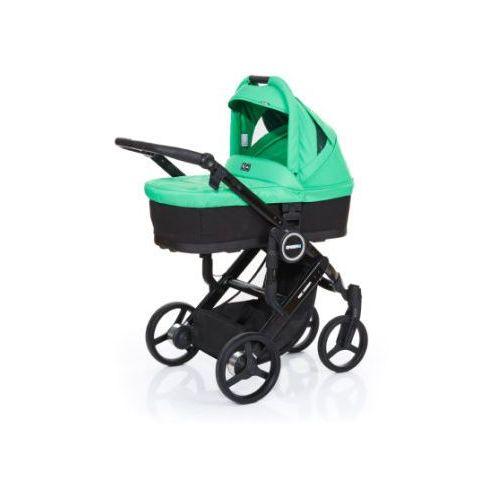 wózek dziecięcy mamba plus black-grass, stelaż black / siedzisko black marki Abc design
