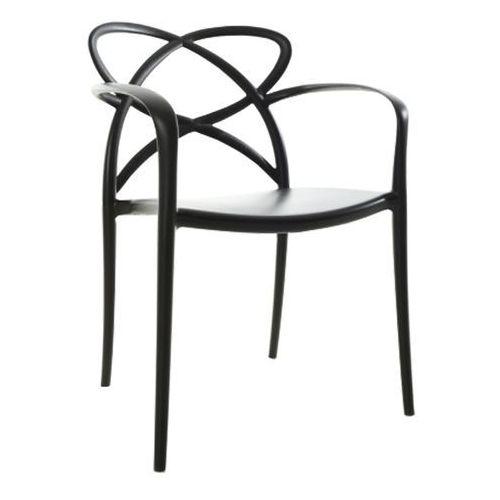 Designerskie czarne krzesło z tworzywa sztucznego Arco, kolor czarny