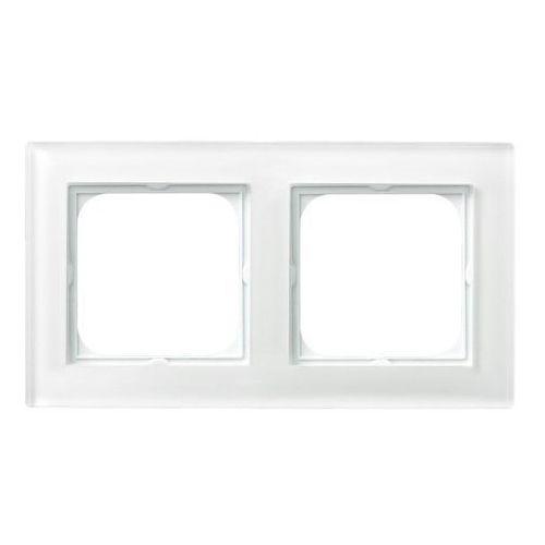 Ospel sonata r-2rg/31 ramka podwójna biały białe szkło, grubość 6mm (5907577445959)