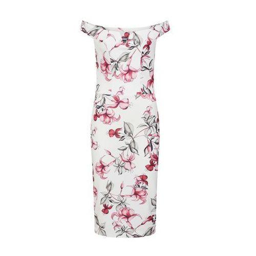 Missguided Sukienka etui różowy pudrowy / biały, kolor różowy