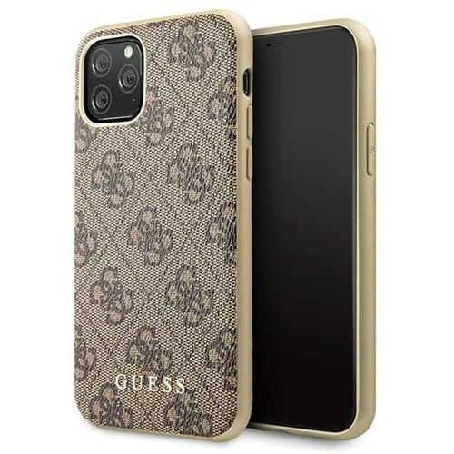 Guess GUHCN58G4GB iPhone 11 Pro brązowy/brown hard case 4G Collection - Brązowy, 10_14880