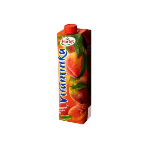 1l vitaminka brzoskwinia marchewka jabłko sok marki Hortex