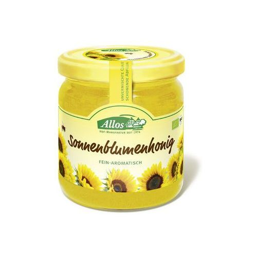 Allos (konfitury, musli, batony, syropy z agawy) Miód słonecznikowy bio 500 g - allos