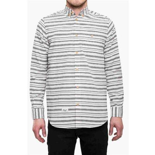 Koszula - striped shirt white/blue (wht/blu) rozmiar: s marki Reell