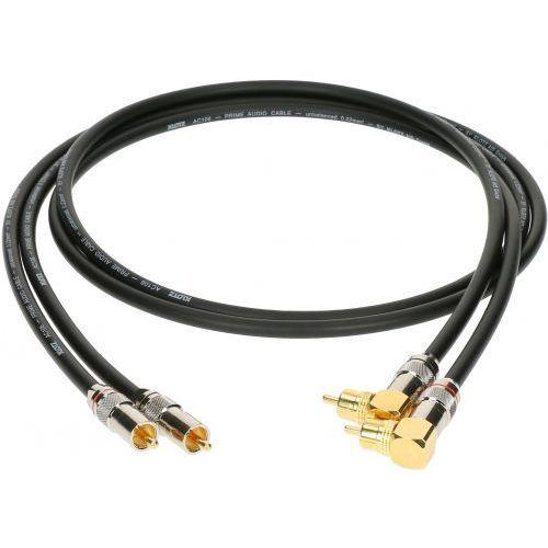 Klotz kabel 2xRCA / 2xRCA kątowy 0,3m