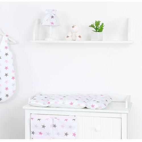przewijak na komodę gwiazdki szare i różowe d marki Mamo-tato
