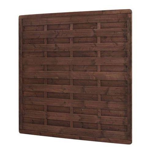 Płot drewniany Blooma 180 x 180 cm brązowy rama 40 x 60 mm, WB_100_16. Najniższe ceny, najlepsze promocje w sklepach, opinie.