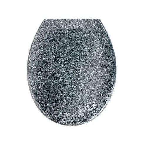 Deska sedesowa OTTANA GRANIT - Duroplast, wolnoopadająca, WENKO (4008838189023)