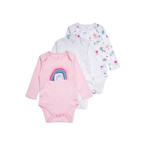 Next UNICORN LONG SLEEVE 3 PACK Body pink/white (5057639019953)