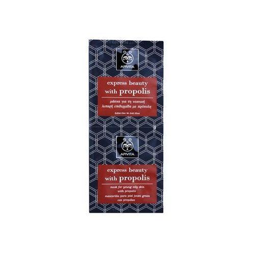 express beauty propolis maseczka oczyszczająca do skóry tłustej 2 x 8 ml marki Apivita