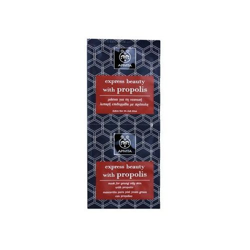 express beauty propolis maseczka oczyszczająca do skóry tłustej 2 x 8 ml wyprodukowany przez Apivita
