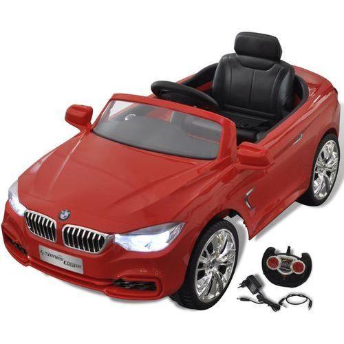 vidaXL BMW - samochód zabawka dla dzieci na baterie z pilotem czerwony (8718475887553)