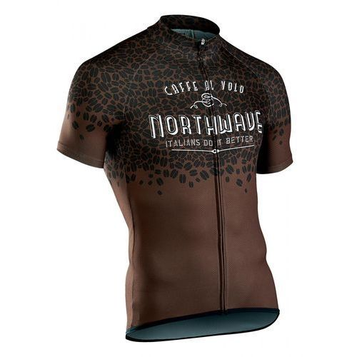 Northwave męska koszulka rowerowa Caffealvolo Jrs S/S Brown XL (8030819034516)