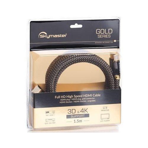 Kabel hdmi - hdmi gold 1.5m marki Skymaster