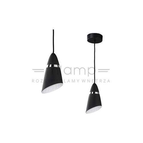 LAMPA wisząca ELMO nero Orlicki Design metalowa OPRAWA zwis stożek czarny, kolor Czarny