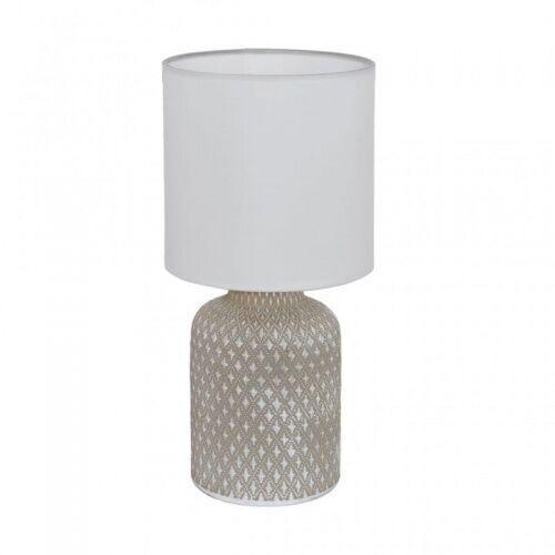 Eglo 97774 bellariva oprawa stołowa ceramika szary / tkanina biały lampa (9002759977740)