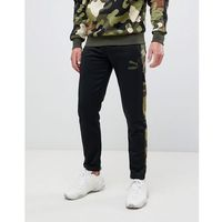 Puma joggers with camo side stripe in black - Black, w 4 rozmiarach