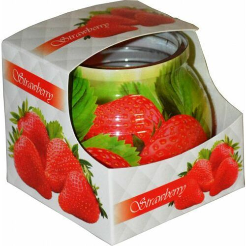 Świeca zapachowa w szklance powlekanej Miral Strawberry