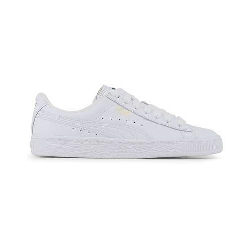 Buty unisex sneakersy basket classic 354367-17 białe marki Puma