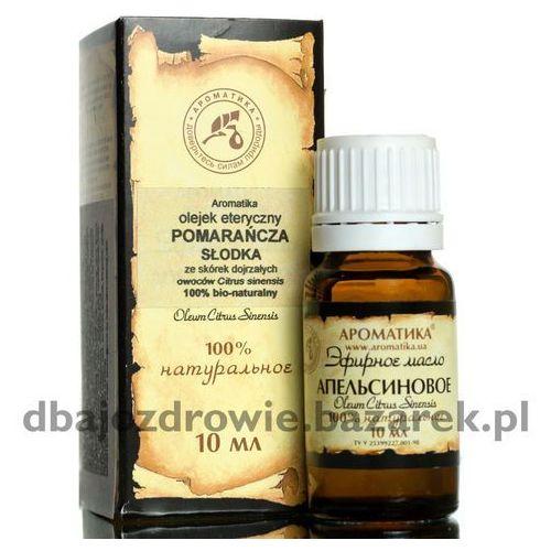 Olejek pomarańczowy naturalny, pomarańcza słodka 100 %, 10 ml -depresja, stres marki Aromatika