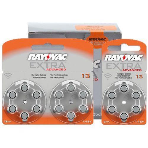 66 x baterie do aparatów słuchowych Rayovac Extra Advanced 13 MF