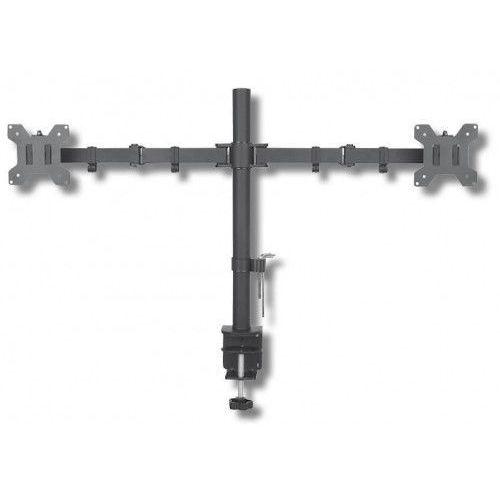 Techly Podwójne ramię biurkowe LED/LCD 13-27 cali 2x10kg VESA regulowane (8054529027514)