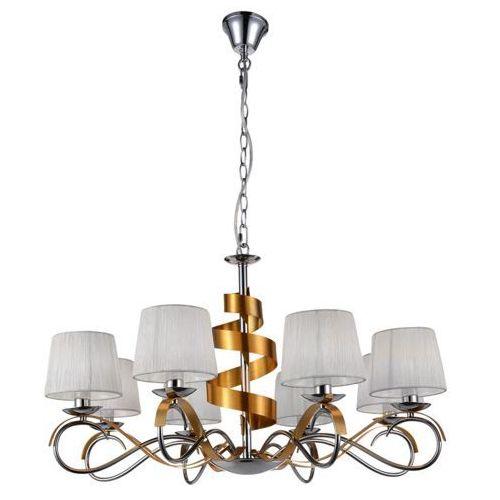Lampa wisząca Candellux Denis 8x40W E14 chrom/złoty 38-23469, kolor Złoty