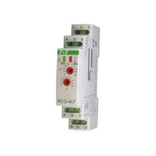 Przekaźnik czasowy 2Z 8A 1-1000sek 230V AC, 24V AC/DC gwiazda-trójkąt PCG-417 F&f