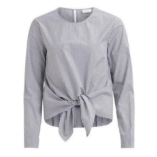 Bluzka z okrągłym dekoltem, w paski, długi rękaw, kolor biały