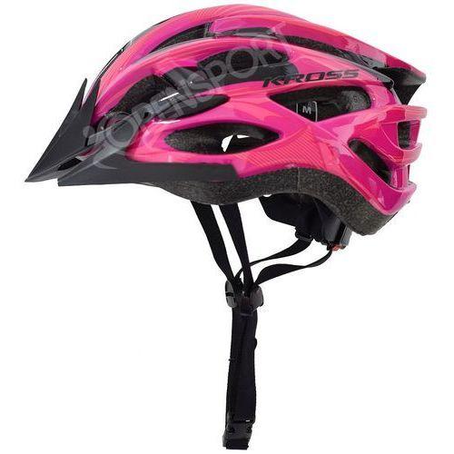 Kask rowerowy laki m 55-58cm różowy marki Kross