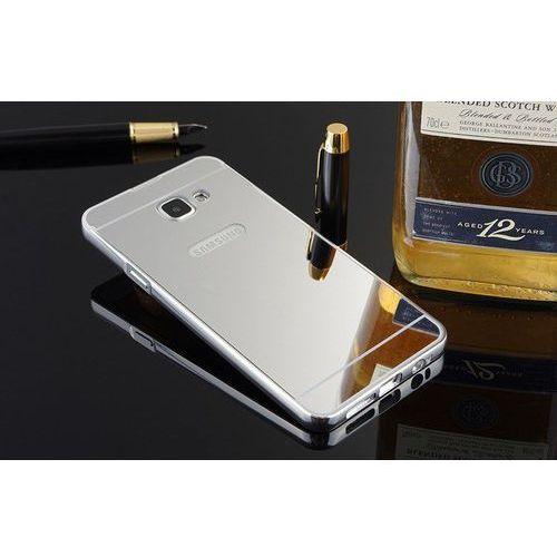 Mirror Bumper Metal Case Srebrny   Etui dla Samsung Galaxy A5 2016 - Srebrny