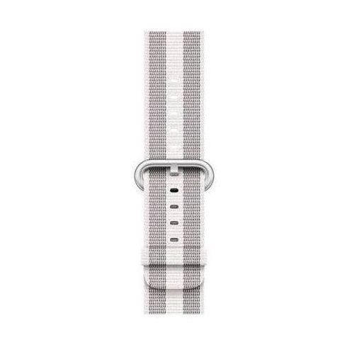 Pasek do smartwatcha APPLE Watch z plecionego nylonu w kolorze białym (w prążki) do koperty 42 mm MQVT2ZM/A (0190198581303)