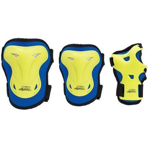 Zestaw ochraniaczy NILS EXTREME H716 Granatowo-limonkowy (rozmiar S)