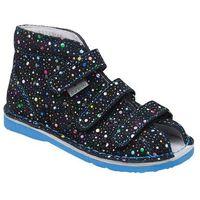 Kapcie profilaktyczne buty t125l t135l kropki blue - granatowy ||niebieski ||multikolor marki Danielki