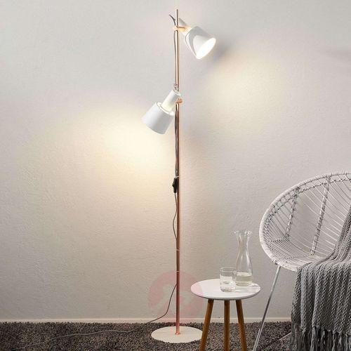 Paulmann 2-punktowa lampa stojąca kaldar biała/miedzia