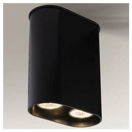 Downlight lampa sufitowa inagi 1188/gu10/cz metalowa oprawa natynkowa spot czarna marki Shilo