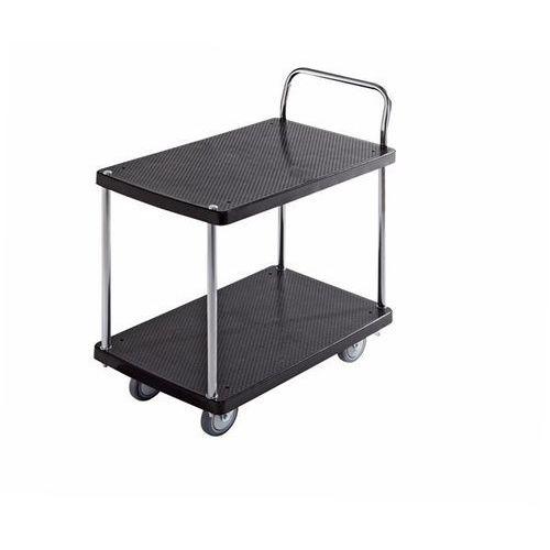 Wózek serwisowy, 2 piętra, 1 pałąk, nośność 280 kg. Solidne powierzchnie ładunko