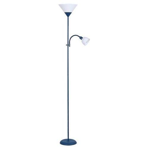 Rabalux Lampa podłogowa action 4187 lampa stojąca 1x100w e27 + 1x25w e14 niebieski