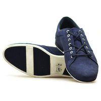 Półbuty Badura 3118 Granatowe nubuk, kolor niebieski