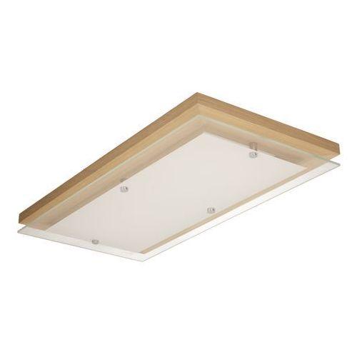Plafon Finn dąb olejowany/chrom/biały LED 24W, 4032974