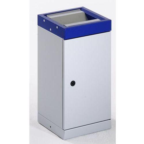 Pojemnik na surowce wtórne z pokrywą uchylną, pojedynczy, pojemność: 30 l, kolor marki Stumpf-metall