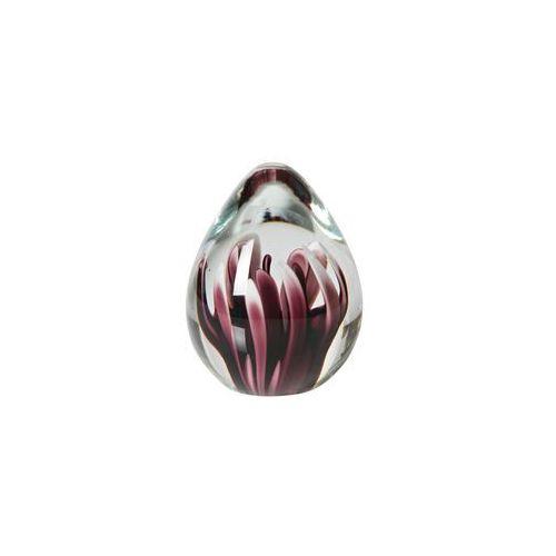 Be Pure Kula ze szkła z różowym kwiatem 12xŘ8cm 800771-R, 800771-R