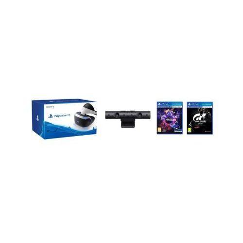 Sony interactive entertainment Gogle wirtualnej rzeczywistości sony playstation vr + playstation camera v2 + vr worlds (voucher) + gran turismo sport
